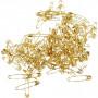 Säkerhetsnålar, L: 19+22+28 mm, tjocklek 0,5-0,6 mm, 600 st., guld