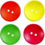 Träknappar, dia. 25 mm, hålstl. 2 mm, 80 st., neonfärger, china berry