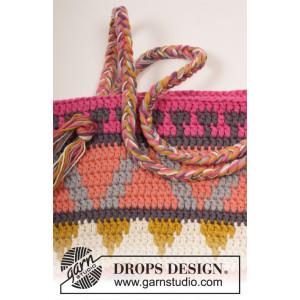 Market Day by DROPS Design - Väska med mönster Virkmönster