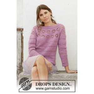 Daisy Chain by DROPS Design - Blus virkmönster str. S - XXXL