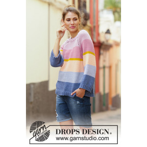 Sonora Sunrise Sweater by DROPS Design - Blus Stickmönster str. S - XXXL