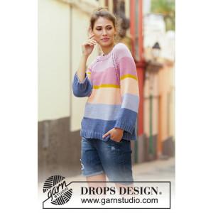 Sonora Sunrise Sweater by DROPS Design - Bluse Strikkeopskrift str. S - XXXL