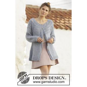 April Showers Jacket by DROPS Design - Lang Jakke Strikkeopskrift str. S - XXXL