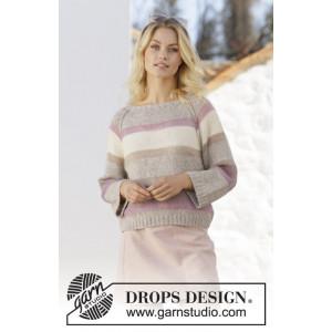 Rose Water by DROPS Design - Blus Stickmönster str. S - XXXL
