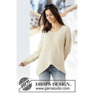 Freedom Found by DROPS Design - Bluse Strikkeopskrift str. S - XXXL