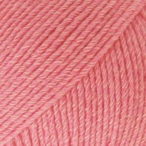 Drops Cotton Merino Garn Unicolor 13 Koral