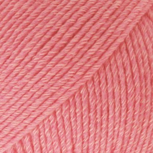 Drops Cotton Merino Garn Unicolor 13 Korall