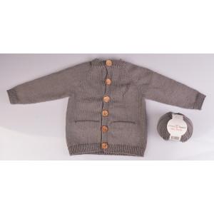 Stickad Basic Cardigan från Rito Krea - Jacka Stickmönster str. Nyföd - 18 mdr