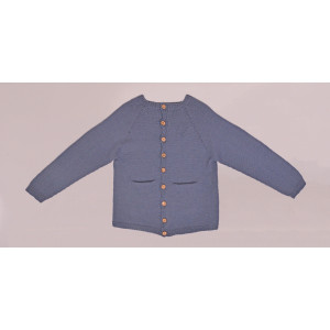 Stickad Basic Cardigan från Rito Krea - Cardigan Stickmönster str. 2 - 7 år