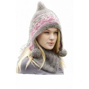 Sweet Winter Hat by DROPS Design - Mössa och hals Stick-opskrift str. S/M - L/XL