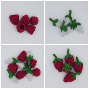 Karlas Hallon från Rita Krea - Frukt Virkmönster 9 cm - 5 st