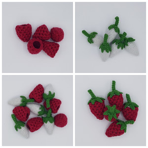 Karlas Hallon från Rito Krea - Frukt Virkmönster 9 cm - 5 st
