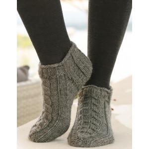 Leaf Ankle Socks by DROPS Design - Sokker Stick-opskrift strl. 35/37 - 41/43