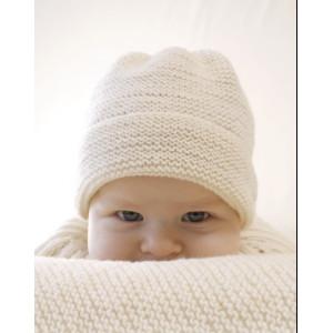 Peek-a-boo by DROPS Design - Baby Mössa Stick-mönster strl. Prematur - 3/4 år