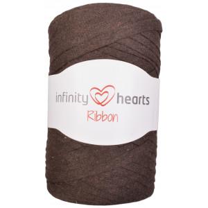Infinity Hearts Ribbon Stofgarn 10 Mörkbrun