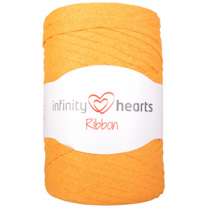 Infinity Hearts Ribbon Stofgarn 28 Senapsgrön