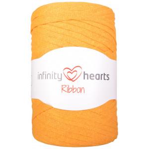 Infinity Hearts Ribbon Stofgarn 28 Senapsgul