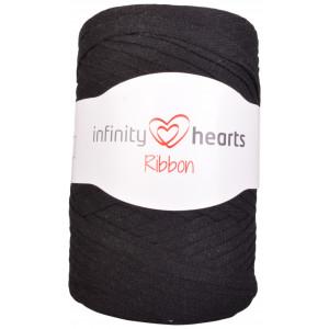 Infinity Hearts Ribbon Trikågarn 02 Svart