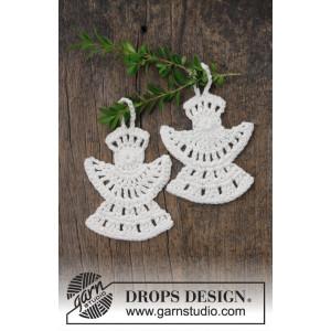 Frozen Angels by DROPS Design - Ängel Virkmönster 10x8 cm