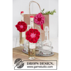 Festive Flowers by DROPS Design - Blomma Virkmönster Ø 8 cm