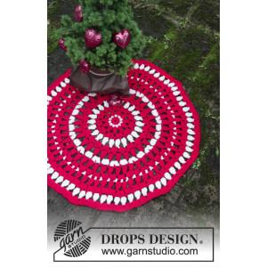 Christmas Circle by DROPS Design - Matta Virkmönster Ø82 cm