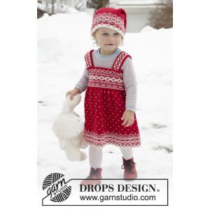 Miss Cookie by DROPS Design - Dress Stickmönster str. 6 mdr-6 år