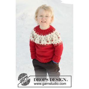Little Red Nose by DROPS Design - Blus Stickmönster str. 12 mdr-12 år