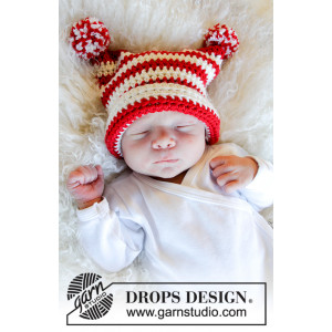 Tiny Elf by DROPS Design - Luva Virkmönster str. 0 mdr-4 år
