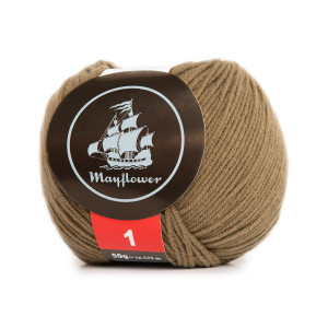 Mayflower Cotton 1 Garn Unicolor 159 Ljus Oliv