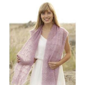 Spring Blush by DROPS Design - Sjal Stick-mönster 168x30 cm
