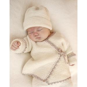 Bedtime Stories by DROPS Design - Babyjacka Stick-mönster strl. Prematur - 3/4 år