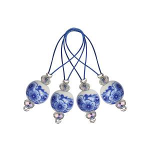 Køb KnitPro Zooni Maskmarkör/Markeringring Blooming Blu – 12 ste