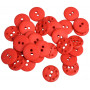 Knappar Plast Röd 11mm - 40 stk