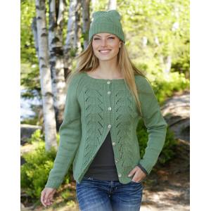 Green Luck by DROPS Design - Stickmönster jacka str. S - XXXL
