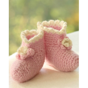 Princess Boots by DROPS Design - Baby Tofflor Virk-mönster strl. 1/3 mdr - 3/4 år
