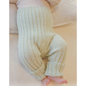 First Impression Pants by DROPS Design - Baby Byxor Stick-mönster strl. Prematur - 3/4 år