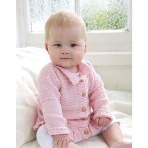 Lea by DROPS Design - Baby Jacka Stick-mönster strl. 1/3 mdr - 3/4 år