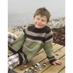 Sticks and Stones by DROPS Design - Tröja Stick-opskrift strl. 3/4 - 13/14 år