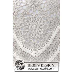 Sweet Martine by DROPS Design - Poncho med Mormorsrutor Virk-mönster strl. S/M - XXXL