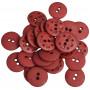 Knappar Plast Bordeaux 20,5mm - 30 stk