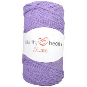 Infinity Hearts 2XLace Garn 20 Mörklila