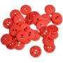 Knappar Plast Röd 15mm - 30 stk