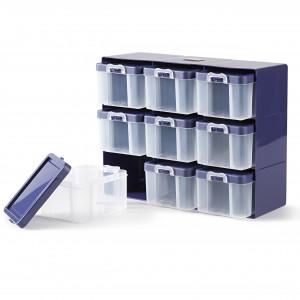 Køb Prym Sorteringskasse med 9 LÃ¥dor Plast 27x21x12cm