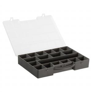 Køb Hobbybox/Plastbox för pärlor/knappare 18 lÃ¥dor KoksgrÃ¥ 35,6×28,5×5,5 c
