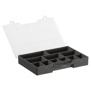 Køb Hobbybox/Plastbox för pärlor/knappar 11 lÃ¥dor KoksgrÃ¥ 27,5×20,6×4,2 cm