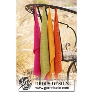 Summer Spices by DROPS Design - Handdukar Stick-opskrift 31x45 cm