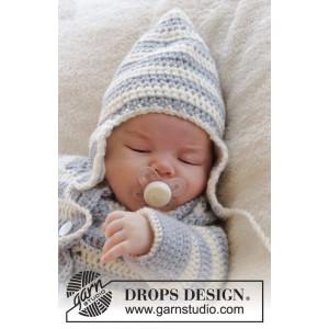 Baby Blues Hat by DROPS Design - Babymössa virkmönster str. 0/3 mdr - 2/4 år