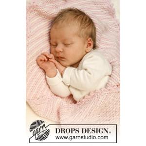 Dream Date by DROPS Design - Baby Filt Stick-mönster 34x51 cm eller 50x75 cm