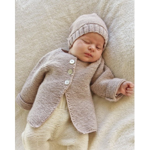 Sleep Tight by DROPS Design - Babyjacka med raglan Stick-mönster strl. Prematur - 3/4 år