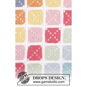 Too Much Fun by DROPS Design - Filt Virk-mönster 88x121 cm